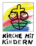 Grafik zur Kinderkirche: Kinder im Boot